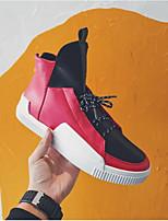 Недорогие -Муж. обувь Полиуретан Весна Осень Удобная обувь Кеды для Повседневные Белый Черный Красный