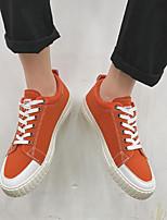 Недорогие -Муж. обувь Полотно Весна Осень Удобная обувь Кеды для Повседневные Белый Черный Оранжевый