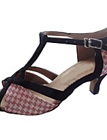 cheap -Women's Latin Sparkling Glitter Sandal Indoor Customized Heel Pink Customizable