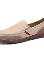 Недорогие -Муж. обувь Полотно Весна Осень Светодиодные подошвы Мокасины и Свитер для Повседневные Серый Синий Хаки