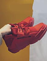 abordables -Homme Chaussures Similicuir Hiver Confort Basket pour Décontracté Noir Rouge Noir/blanc