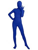 """Недорогие -Костюмы на все тело """"зентай"""" Мода Костюмы зентай Косплэй костюмы Зеленый Насыщенный синий Оранжевый Темно синий Желтый Однотонный Мода"""