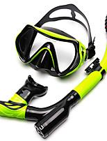 abordables -Tubas Paquets de plongée Masques de plongée Anti buée Natation Plongée Snorkeling Silicone
