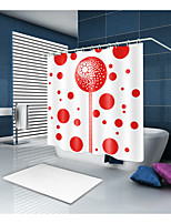 cheap -Shower Curtains & Hooks Contemporary Polyester Geometric Machine Made Waterproof