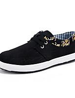 Недорогие -Муж. Комфортная обувь Полотно Зима На каждый день Кеды Нескользкий Контрастных цветов Черный / Синий