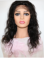 cheap -Virgin Human Hair Full Lace / Lace Front Wig Wig Brazilian Hair Loose Wave With Baby Hair 130% Density Natural Hairline Women's Mid Length Human Hair Lace Wig