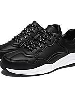 baratos -Homens sapatos Micofibra Sintética PU Primavera Outono Conforto Tênis para Casual Branco Preto