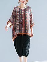 preiswerte -Damen Einfarbig T-shirt Grundlegend