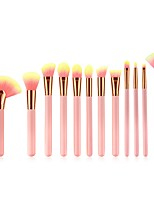 cheap -11pcs Foundation Brush Powder Brush Lip Brush Blush Brush Makeup Brush Set Nylon Soft Comfy Full Coverage Wooden Beech Wood Wood Face