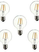 abordables -5pcs 4W 360 lm E26/E27 Bombillas de Filamento LED G80 4 leds COB Decorativa Blanco Cálido 220-240V