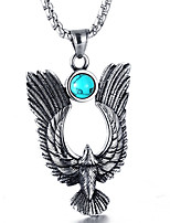 cheap -Men's Turquoise Pendant Necklace - Casual Fashion Cool Wings / Feather Necklace For Daily Street