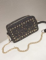 cheap -Women's Bags PU Shoulder Bag Zipper for Casual Blue / Black / Blushing Pink
