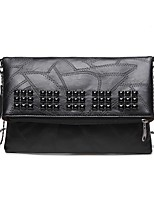 cheap -Women's Bags PU Clutch Rivet for Shopping Casual All Seasons Black