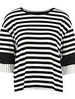 cheap -Women's Active Cotton T-shirt - Striped