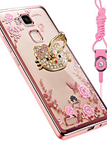 cheap -Case For Huawei Mate 8 Shockproof Rhinestone with Stand Back Cover Cartoon Soft Silicone for Huawei Mate 7