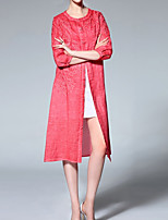 cheap -Women's Vintage Basic Shirt Dress - Solid Colored