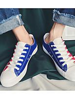 Недорогие -Муж. обувь Полотно Весна Осень Удобная обувь Кеды для Повседневные Белый Оранжевый Темно-синий