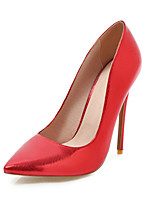 cheap -Women's Shoes PU Spring Summer Basic Pump Wedding Shoes Stiletto Heel Pointed Toe for Wedding Party & Evening Gold Silver Red Pink