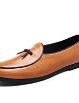 Недорогие -Муж. обувь Кожа Наппа Leather Весна Осень Обувь для дайвинга Удобная обувь Мокасины и Свитер Для прогулок для Повседневные Черный Желтый
