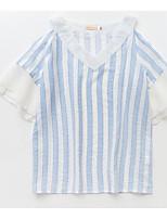 cheap -Women's Simple Shirt - Striped V Neck