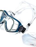 abordables -Masque de Nage Masque de Snorkeling Niveau professionnel Facilement ajustable Natation Plongée PC Verre Trempé