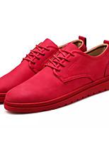 Недорогие -Муж. обувь Искусственное волокно Весна Осень Светодиодные подошвы Кеды для Повседневные Черный Коричневый Красный