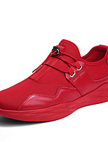 cheap -Men's Shoes Tulle Summer Fall Comfort Sneakers for Casual Office & Career White Black Red