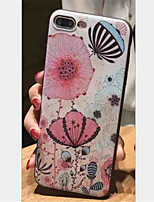 cheap -Case For Apple iPhone X iPhone 7 Plus Pattern Embossed Back Cover Flower Soft TPU for iPhone X iPhone 8 Plus iPhone 8 iPhone 7 Plus