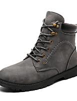 cheap -Shoes Rubber Winter Fall Combat Boots Boots for Outdoor Black Gray Brown