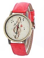 Недорогие -Жен. Наручные часы Китайский Крупный циферблат PU Группа На каждый день / минималист Черный / Белый / Синий