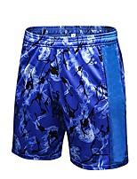 abordables -Homme Pantalons de Course Des sports Cuissard  / Short Exercice & Fitness Respirabilité strenchy Vert Véronèse, Bleu, Rouge / Blanc Fleur