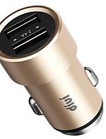 abordables -Cargador de Coche Cargador USB del teléfono USB QC 2.0 Carga Rápida 1 Puerto USB 2.1A DC 12V-24V