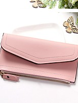 cheap -Women's Bags PU Wallet Buttons for Casual All Seasons Black Blushing Pink Gray