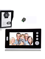 cheap -KONX KX7001 Wireless 2.4GHz Battery Camera Built in out Speaker 7 inch Hands-free 640*480 One to One video doorphone