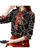 cheap -Women's Polyester Blouse - Geometric
