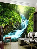 abordables -arbres/Feuilles Décoration artistique 3D Décoration d'intérieur Classique Rétro Revêtement, Toile Matériel adhésif requis Mural, Couvre