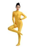 preiswerte -Zentai Anzüge Ninja Zentai Kostüme Cosplay Kostüme Golden Solide Zentai Kostüme Elasthan Lycra Herrn Damen Halloween Maskerade