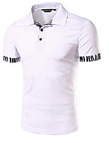 cheap -Men's Sports Simple Active Polo - Solid Colored Shirt Collar
