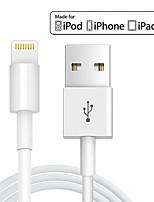 abordables -Eclairage Adaptateur de câble USB Charge rapide Haut débit Câble Pour iPhone 100 cm TPE