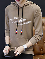 cheap -men's daily letter hooded hoodie long, long sleeves spring acrylic