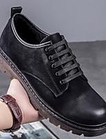 preiswerte -Herrn Schuhe Leder Frühling Herbst Komfort Sneakers für Normal Gold Schwarz