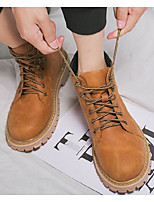 cheap -Men's Shoes Synthetic Microfiber PU Spring Fall Combat Boots Comfort Boots Booties/Ankle Boots for Casual Gray Light Brown Dark Brown