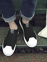 Недорогие -Муж. обувь Полотно Весна Лето Удобная обувь Кеды для Повседневные Черный Серый