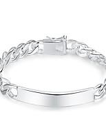preiswerte -Herrn Ketten- & Glieder-Armbänder , Modisch Kupfer Geometrische Form Schmuck Geschenk Alltag Modeschmuck Silber