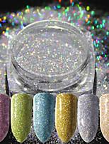 abordables -16pcs Poudre de paillettes Elégant & Luxueux Glitter & Sparkle Conseils d'art des ongles