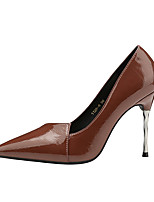 cheap -Women's Shoes Leatherette Spring Fall Comfort Heels Stiletto Heel Closed Toe for Office & Career Black Beige Gray Light Brown Khaki