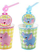 cheap -Birthday Party Party Tableware - Straws Patterned PP (Polypropylene) Pure Paper Birthday
