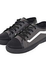 cheap -Men's Shoes PU Spring Comfort Sneakers for Casual Black Gray