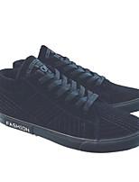 abordables -Homme Chaussures Daim Automne Hiver Confort Basket pour Décontracté De plein air Noir Gris
