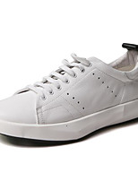 cheap -Men's Shoes Cowhide Winter Fall Comfort Sneakers for Casual White Black